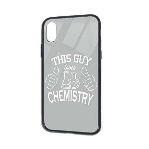 Shock-Absorption The Chemistry of Love Glass Back Phone Case for iPhone X iPhone -
