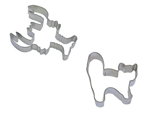 R&M 5 inch Lobster and 3.25 inch Halloween Cat Cookie Cutter, Set of 2