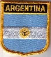 Parche Bordado Bandera Argentina - 7 x 6 cm