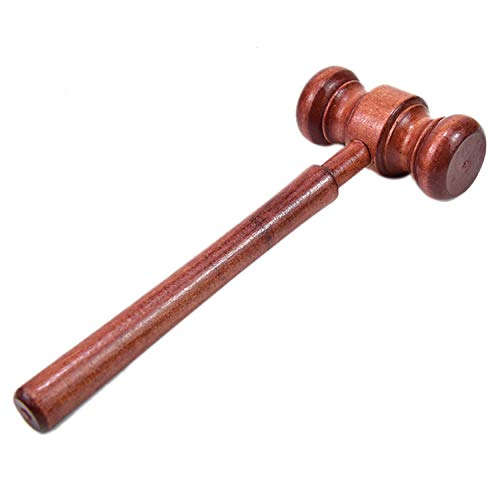 WEFOO 4 Pieces Mini Wooden Gavel Toy for Cosplay Lawyer Judge Auction Sale Judge Gavel Costume Accessory Unique Craft Gifts Toys -