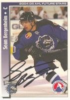 Sean Bergenheim Bridgeport Sound Tigers - AHL 2005 Choice AHL Future Stars Autographed Card. This item comes with a certificate of authenticity from Autograph-Sports. Autographed