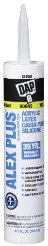 DAP 18156 11 Oz Clear Alex Plus Acrylic Latex Caulk With ...