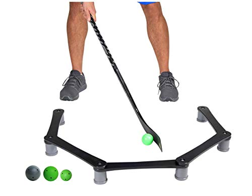 Smarthockey Stickhandling and Puck Control Training Aid with 3 Balls Included - 1 Original Ball, 1 MAXX, and 1 Mini