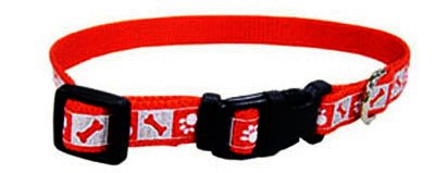 Collar Reflective Sunglo (Coastal Pet 46481 A RPS18 .63 in. Reflective Nylon Collar44; Adjusts 12-18 in. - Red)