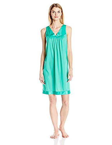 Exquisite Form Women's Coloratura Sleepwear Short Gown 30107, Eves Garden, Small