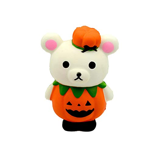 Ulanda Halloween Squishies Pumpkin Bear Cream Scented Super Slow Rising Stress Relief Squeeze Toys for Kids Adults for $<!--$3.89-->