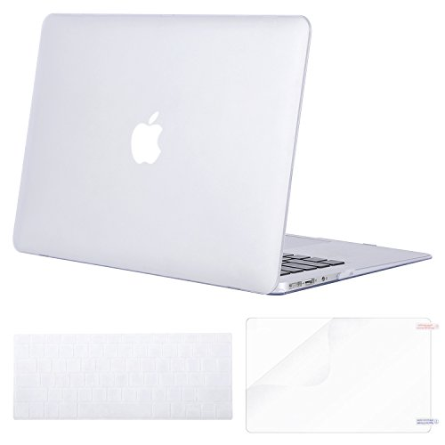 MOSISO Plastic Hard Case & Keyboard Cover & Screen Protector Only Compatible MacBook Air 13 Inch (Models: A1369 & A1466), Not Compatible 2018 MacBook Air 13 Inch with Touch ID, Frost