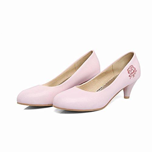 Bloemenprint Dames Comfortabel Bedrukt Comfort Chic Bruids Pumps Schoenen Roze