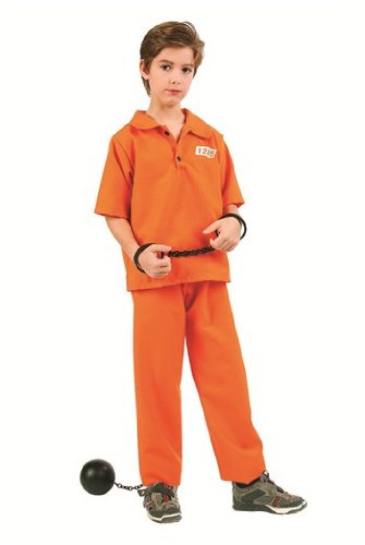 Old Time Prisoner Costumes - Not Guilty Prisoner Boy Kids