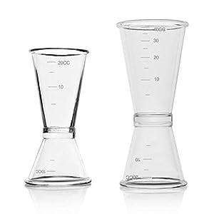 Inrigorous - Set di misurini per doppia misurazione di alcolici, per bar, feste, vino, cocktail, bevande, 10 ml/20 ml e… 1 spesavip