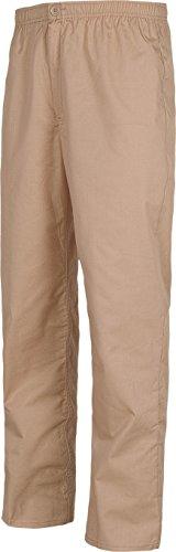 Pantalon Avec Travail Élastique Poches De Taille Zippée Beige Homme Braguette Sans 4w4ZHqC