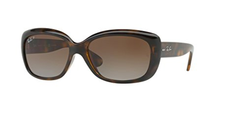 Ray-Ban RB4101 JACKIE OHH 710/T5 58M Light Havana/Brown Gradient Polarized Sunglasses For Women