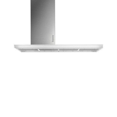 Falmec Lux - Campana de isla de acero inoxidable de 90 cm y ...