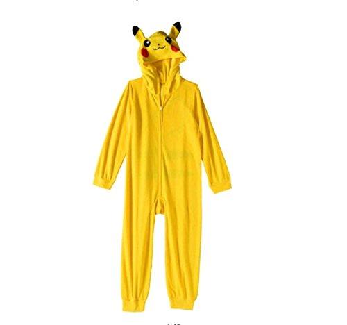 Pokemon Pikachu Boys Costume Union Suit Pajamas 4-16 (XL (14/16))]()