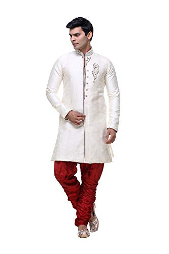 Traditional 8 Wedding Wear Western Party Indian Da 2 Ethnic Indo Of Facioun Gold Set Mens qp64IT