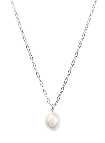 Dogeared Pearls of Beauty Baroque Pearl on Sterling Silver Chain 20