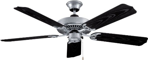 Litex WOD52GV5 All Weather Collection 52-Inch Indoor/Outdoor Ceiling Fan with Five Black Grained ABS Blades - Light Kit Adaptable by Litex