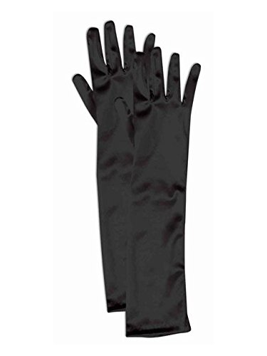 (Forum Child Opera Satin Gloves, Black)
