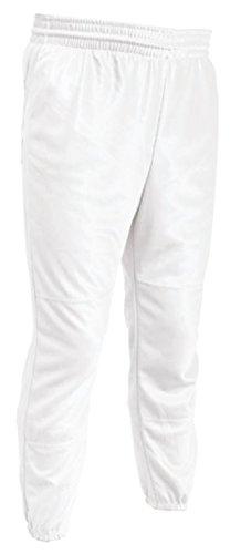 TAG Youth Pull Up Baseball Pant (Medium) White