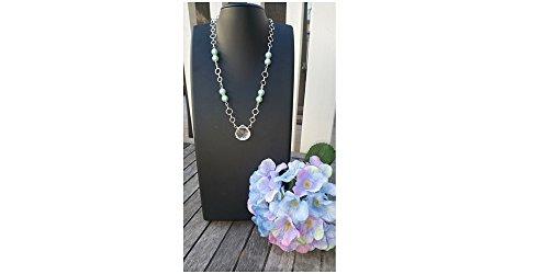 Aqua Quartz Briolette Necklace - Quartz Briolette & Aqua Pearl Pendant