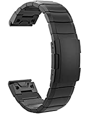 TiMOVO Ersättningsband kompatibelt med Garmin Fenix 5/5 Plus/Forerunner 935/945, 22 mm premium klockarmband i rostfritt stål med snabbkopplingskontakt passar Fenix 5/5 Plus/Forerunner 935/945