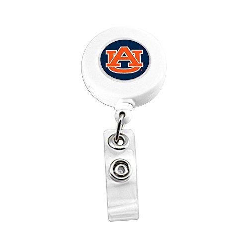 aminco NCAA Auburn Tigers Sports Team Logo Retractable Badge Reel Id Ticket Clip