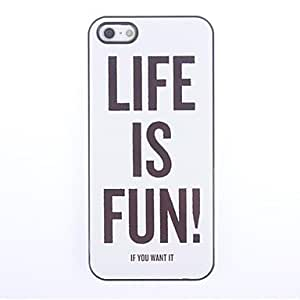 TY-La vida es diversión Caso duro del diseño de aluminio para el iPhone 5/5S