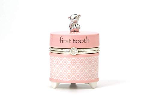 1st Tooth Box - Nat and Jules First Tooth Keepsake Box, Pink