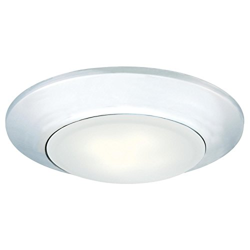 Westinghouse Lighting 6322200 Small LED Indoor/Outdoor Dimmable Surface Mount Wet Location, Chrome Finish with Frosted Lens