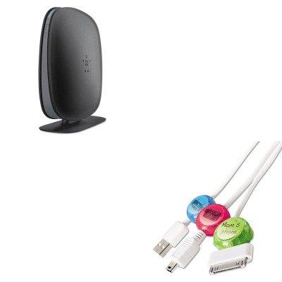 KITBLKF9K1002PRBDCI101COCB - Value Kit - Belkin N300 Wi-Fi N