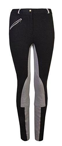 Noir Gs Femme Jodhpur Equestrian Pantalon Gris Kerry 6RX4ww