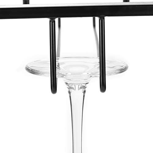 Wine Glass Holder - Metal Iron Wine Cabinet Rack Kitchen Dining Bar Cup Holder Hanger Shelf