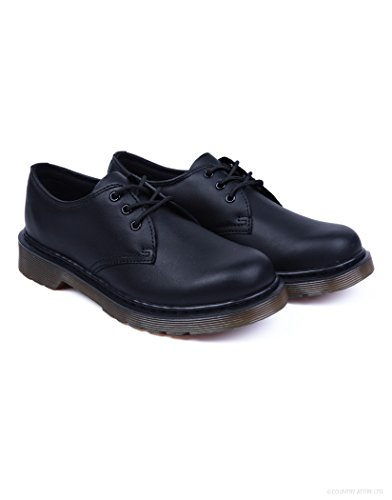 Dr. Martens Kid's Everley Lace Dress Oxford Shoes, Black Leather, 5 Big Kid M UK, 6 M]()