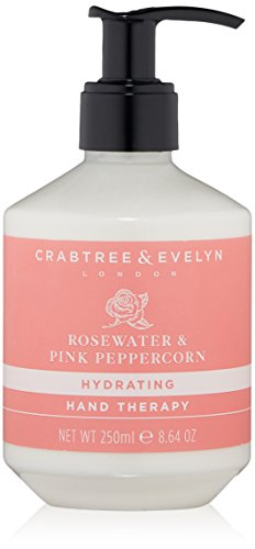 Crabtree & Evelyn Hydrating Hand Cream Therapy, Rosewater & Pink Peppercorn Scent - 8.64 oz.