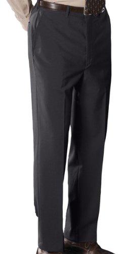 Ed Garments Men's Flat Front Classic Dress Pant, CHARCOAL, 46 UL