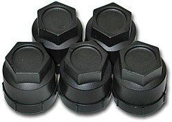 SLP 82552 Lug Nut with Black Caps, (Pack of 20)