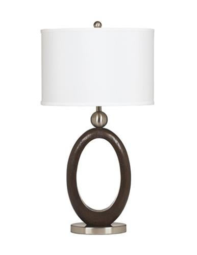 Ashley L419994 Desk Lamp in Dark Brown Wood Tone Finish (Pack of (Tone Finish Table Lamps)