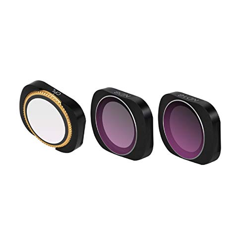 Cinhent Drone Accessories Upgrade Kit, 3PC CPL+ND8+ND16 Camera Lens Filters Mix and Match Filter Set of 3 for DJI OSMO Pocket