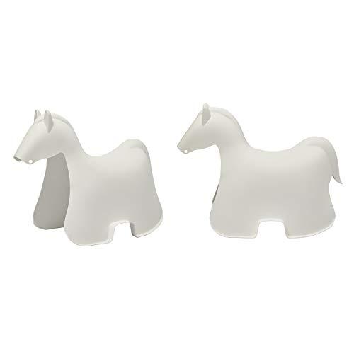 AmazonBasics Premium Plastic Stackable Kids Chairs, White Horse, 2-Pack