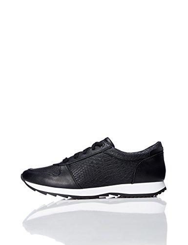 black Effetto Basse Find Sneaker Pitonato Donna Nero xzq8Ppq