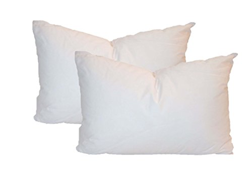 Check Out This Pillowflex Set of 2 Synthetic Down Alternative Pillow Inserts for Shams (12 Inch by 2...