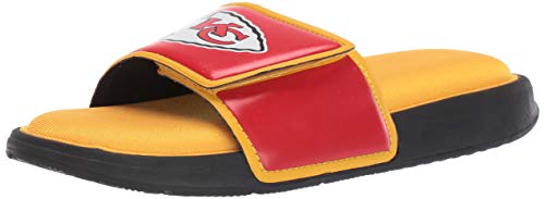 FOCO NFL Kansas City Chiefs Mens Deluxe Foam Sport Shower Slide Flip Flop SandalsDeluxe Foam Sport Shower Slide Flip Flop Sandals, Team Color, Large/Mens Size 11-12
