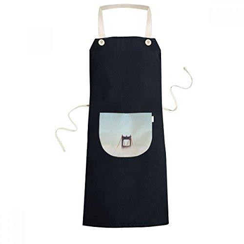 Diythinker Fog Golden Gate Bridge Bay Suspension Bridge Cloud Cooking Kitchen Black Bib Aprons With Pocket For Women Men Chef Gifts