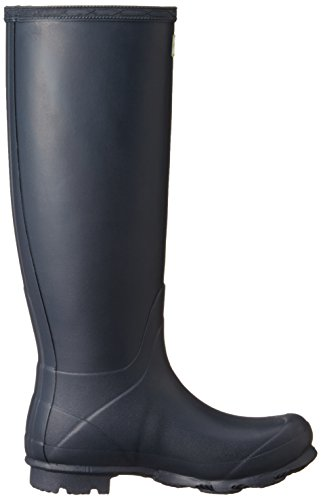 Hunter Campo De Norris Lado Señoras Ajustable Wellington Boot Navy