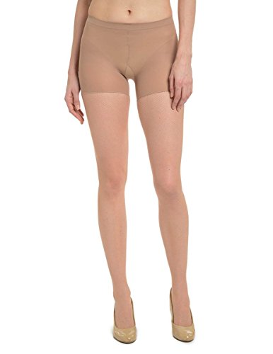 - SPANX Uptown Tight End Tights Floral Backseam Fishnet (NUDE, A)