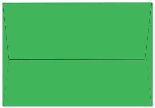 "50 Green A1 Envelopes - 5.125"" x 3.625"" - Square Flap"