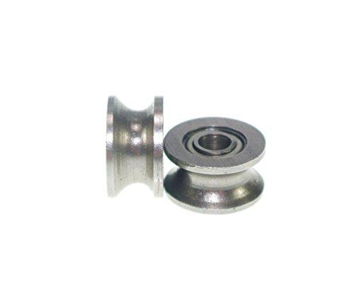 20pcs U deep groove pulley Rail Ball Bearings Wheel ,U624ZZ 4*13*7mm