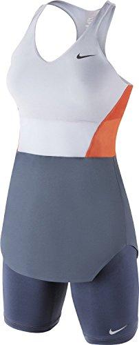 Tennis Dress Nike (Nike Women's Dri-Fit Premier Maria Day Sharapova Tunic Tennis Dress-Gray/Orange-Medium)