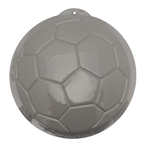 - CK Products 49-6003 Plastic Soccer Ball Cake Pan, White
