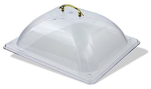 Crestware PDC2 Polycarbonate Dome Solid Cover, Half, ()
